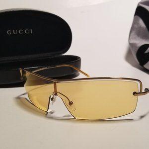 Vintage 90's Authentic Gucci Sunglasses Orange GG
